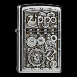 Zippo-Feuerzeug - Emblem Gear Wheels - optional mit individueller Zippo-Schachtel-Gravur