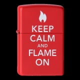 Zippo-Feuerzeug - Keep Calm and Flame on - optional mit individueller Gravur