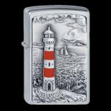 Zippo-Feuerzeug - Emblem Lighthouse - optional mit individueller Gravur