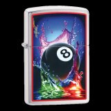 Zippo-Feuerzeug - Eightball by Mazzi - optional mit individueller Zippo-Schachtel-Gravur