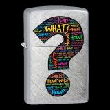 Zippo-Feuerzeug - Question Mark - optional mit individueller Gravur