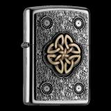 Zippo-Feuerzeug - Emblem Celtic Knot - optional mit individueller Gravur