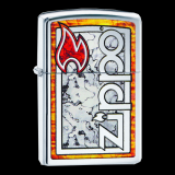 Zippo-Feuerzeug - Zippo Logo in Fusion - optional mit individueller Gravur