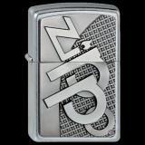Zippo-Feuerzeug - 3D Zippo-Emblem - optional mit individueller Gravur