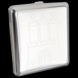 Zigarettenetui - Hamburg Wappen chrom poliert - mit Gummiband - optional mit individueller Gravur