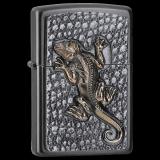 Zippo-Feuerzeug - Emblem Gecko - mit Deckel-Trick - optional mit individueller Gravur