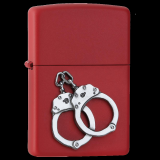 Zippo-Feuerzeug - Handcuffs - color: red - optional mit individueller Gravur