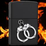 Zippo-Feuerzeug - Handcuffs - Farbe: schwarz - optional mit individueller Gravur