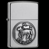 Zippo-Feuerzeug - Emblem Fleischer - optional mit individueller Gravur