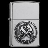 Zippo-Feuerzeug - Emblem Dachdecker - optional mit individueller Gravur