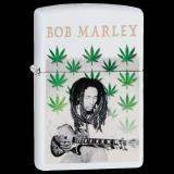 Zippo-Feuerzeug - Bob-Marley - Multi-Leaves - Farbe: Weiß - optional mit individueller Gravur