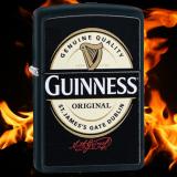 Zippo-Feuerzeug - Guinnes-Logo - optional mit individueller Gravur