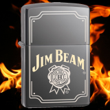 Zippo-Feuerzeug - Jim Beam Logo - optional mit individueller Gravur
