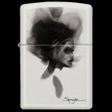 Zippo-Feuerzeug - Woman von Spazuk - Farbe: Weiß - optional mit individueller Gravur