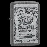 Zippo-Feuerzeug - Jack Daniels - Farbe: Steingrau - optional mit individueller Gravur
