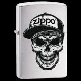 Zippo-Feuerzeug - Skull with Cap - optional mit individueller Gravur