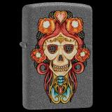 Zippo-Feuerzeug - Skull Pendant - Farbe: Grau - optional mit individueller Gravur