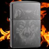 Zippo-Feuerzeug - Wolf Photo - Farbe: Schwarz - optional mit individueller Gravur