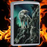 Zippo-Feuerzeug - two Wolves on the Mountain von Lisa-Parker - optional mit individueller Gravur
