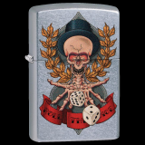 Zippo-Feuerzeug - Skeleton Roll the Dice - optional mit individueller Gravur