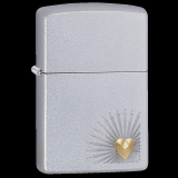 Zippo-Feuerzeug - Heart Design - satin finish - optional mit individueller Gravur