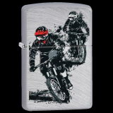 Zippo-Feuerzeug - Motorcross - optional mit individueller Gravur