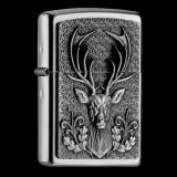 Zippo-Feuerzeug - Emblem Deer Head - optional mit individueller Gravur