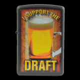 Zippo-Feuerzeug - I support the Draft - optional mit individueller Gravur