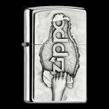 Zippo-Feuerzeug - Emblem Torn Paper - optional mit individueller Gravur