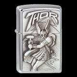 Zippo-Feuerzeug - Emblem Viking Thor - optional mit individueller Gravur