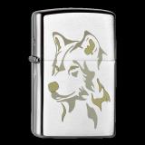 Zippo-Feuerzeug - Wolf Head - optional mit individueller Gravur