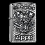 Zippo-Feuerzeug - Emblem The Power of Zippo Engine - optional mit individueller Gravur
