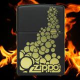 Zippo-Feuerzeug - golden Bubbles  - Farbe: schwarz - optional mit individueller Gravur