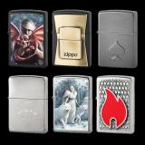 Zippo-Feuerzeug 6er Set - Fantasy - optional mit individueller Gravur