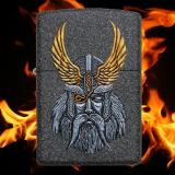 Zippo-Feuerzeug - Göttervater Odin - optional mit individueller Gravur