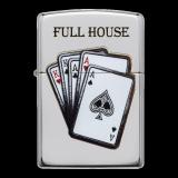 Zippo-Feuerzeug - Poker Full House - optional mit individueller Gravur