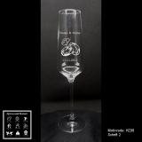 Sektglas - Hochzeit - mit Motivauswahl und individueller Gravur / Namen und Datum