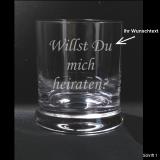 Whiskeyglas mit Ihrem Wunschtext