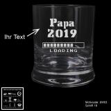Whiskeyglas - bald Papa - mit Motivauswahl und individueller Gravur / Text