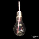 Glas - Glühbirne - mit individueller Gravur / Name