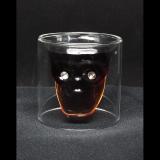 Schnapsglas - Totenkopf mit Swarovski-Steinen