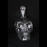 Whiskeyflasche - 350ml Totenkopf - mit Swarovski-Steinchen
