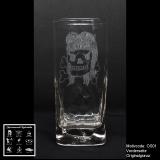 Longdrinkglas Cocktailglas - Rockabella - mit Motivauswahl und individueller Gravur / Name