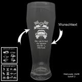 Weizenbierglas - Cars and more - mit Motivauswahl und individueller Gravur