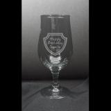 Biertulpe - Happy Beersday - im Schild mit individueller Gravur / Name