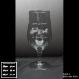 Biertulpe - Hochzeits-Kutsche - mit Motivauswahl und individueller Gravur / Namen und Datum