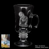Tee-Glas mit Ihrem Lieblingsfoto und optionaler Textgravur auf der Rückseite