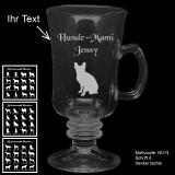 Tee-Glas - Hundebesitzer (1) - mit Motivauswahl und individueller Gravur / Text