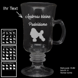 Tee-Glas - Hundebesitzer (2) - mit Motivauswahl und individueller Gravur / Text