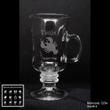 Tee-Glas - Sternzeichen - mit Motivauswahl und individueller Gravur / Namen und Geburtsdatum